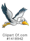 Stork Clipart #1418942 by AtStockIllustration