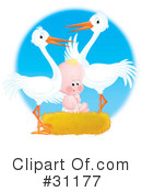 Stork Clipart #31177 by Alex Bannykh