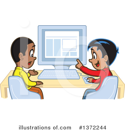 Royalty-Free (RF) Student Clipart Illustration by Clip Art Mascots - Stock Sample #1372244