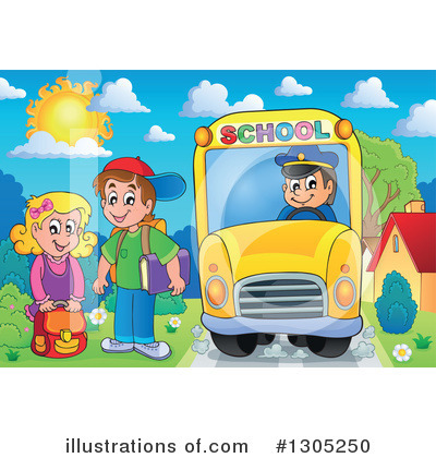 School Bus Clipart #1305250 by visekart