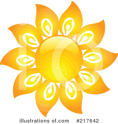 Royalty-Free (RF) Sun Clipart Illustration by KJ Pargeter - Stock Sample #217642