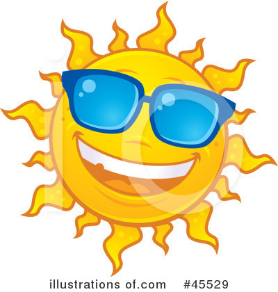 Royalty-Free (RF) Sun Clipart Illustration by John Schwegel - Stock Sample #45529