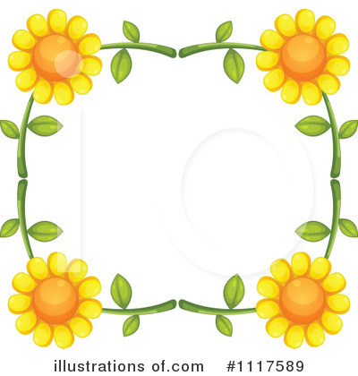 Royalty-Free (RF) Sunflower Clipart Illustration by Graphics RF - Stock Sample #1117589