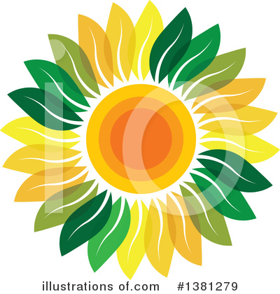 Sunflower Clipart #1381279 by ColorMagic