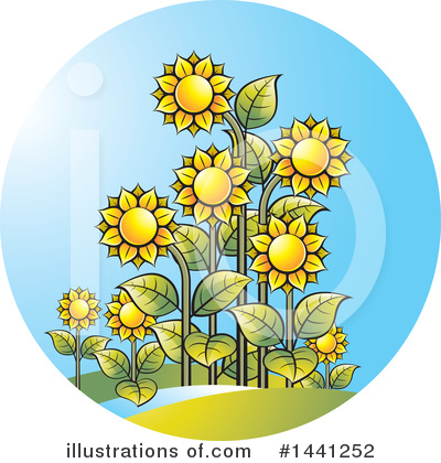 Sunflower Clipart #1441252 by Lal Perera