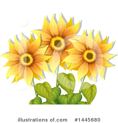 Sunflower Clipart #1445680 by Graphics RF