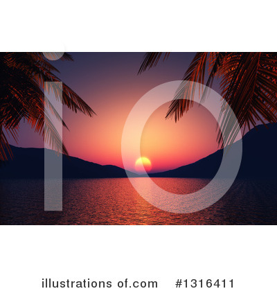 Beach Clipart #1316411 by KJ Pargeter