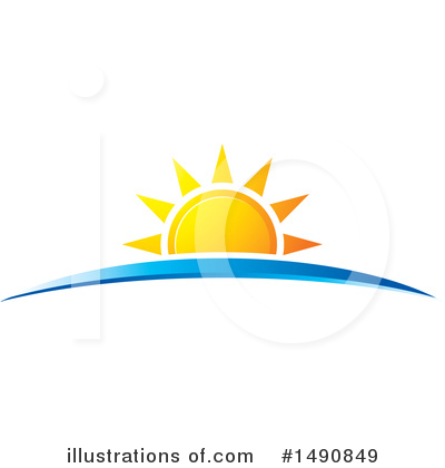 Sunset Clipart #1490849 by Lal Perera