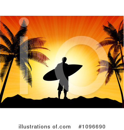 Surfing Clipart #1096690 by KJ Pargeter