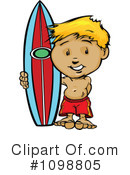 Surfer Clipart #1098805 by Chromaco
