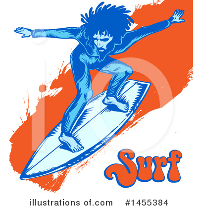 Surfing Clipart #1455384 by Domenico Condello