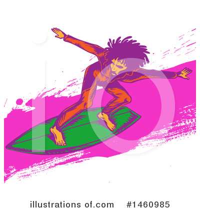 Surfing Clipart #1460985 by Domenico Condello