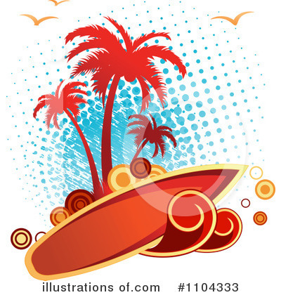 Surfing Clipart #1104333 by Vector Tradition SM
