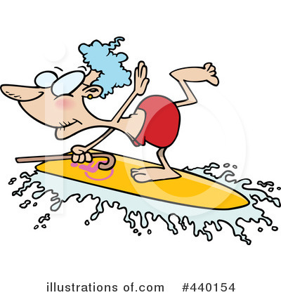Surfing Clipart #440154 by toonaday
