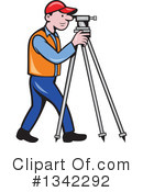 Surveyor Clipart #1342292 by patrimonio