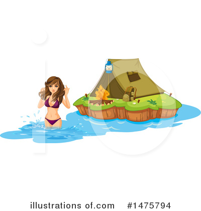 Camping Clipart #1475794 by Graphics RF