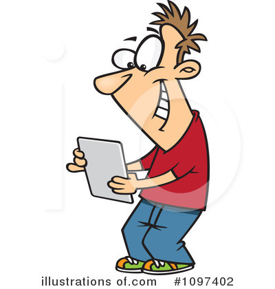 Tablet Clipart #1097402 - Illustration by Ron Leishman