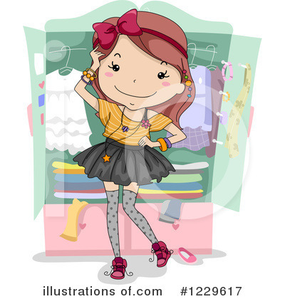 Royalty-Free (RF) Teen Girl Clipart Illustration by BNP Design Studio - Stock Sample #1229617