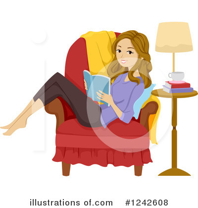 Reading Clipart #1242608 by BNP Design Studio