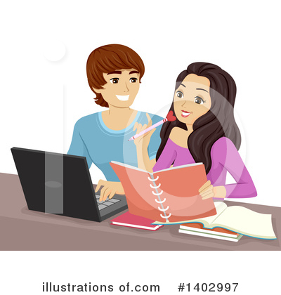 Couple Clipart #1402997 by BNP Design Studio