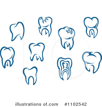 Teeth Clipart #1102542 - Illustration by Vector Tradition SM