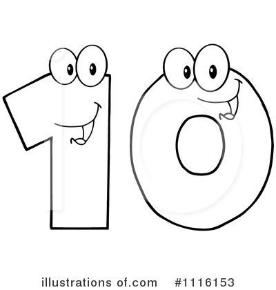 ten clipart black and white. royaltyfree rf ten clipart illustration 1116153 by hit toon black and white p