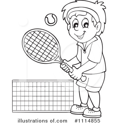 Tennis Clipart 1114855 Illustration By Visekart