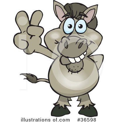 Donkey Clipart #36598 by Dennis Holmes Designs