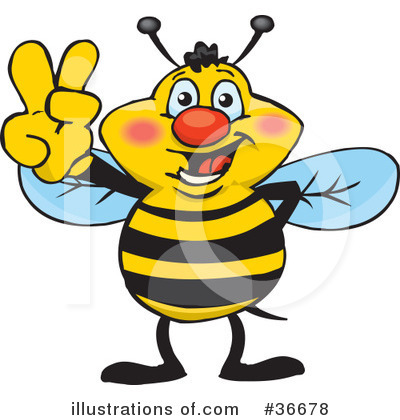 Bee Clipart #36678 by Dennis Holmes Designs