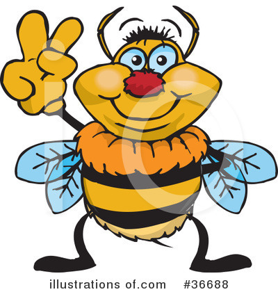 Bee Clipart #36688 by Dennis Holmes Designs