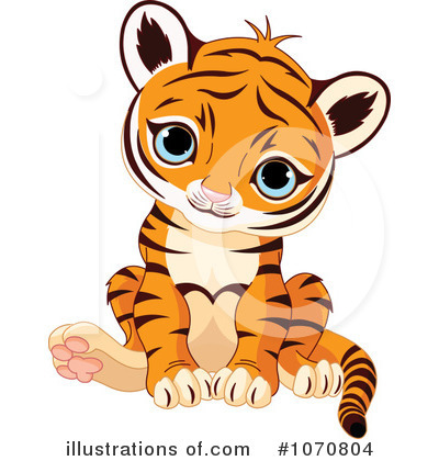 Tiger Clipart #1070804 - Illustration by Pushkin