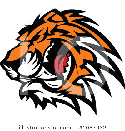Royalty-Free (RF) Tiger Clipart Illustration by Chromaco - Stock Sample #1087932