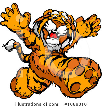 Tiger Clipart #1088016 by Chromaco