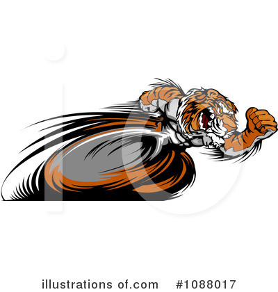 Royalty-Free (RF) Tiger Clipart Illustration by Chromaco - Stock Sample #1088017