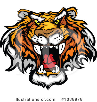 Tiger Clipart #1088978 by Chromaco