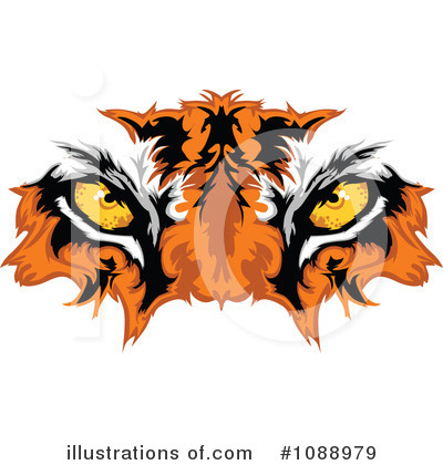 Tiger Clipart #1088979 by Chromaco