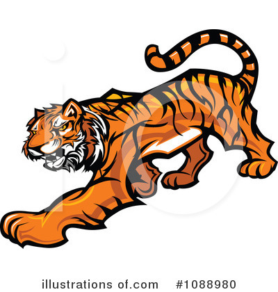 Tiger Clipart #1088980 by Chromaco
