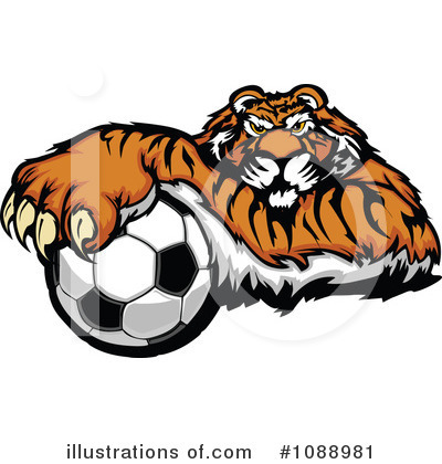 Tiger Clipart #1088981 by Chromaco