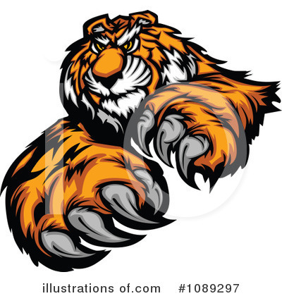 Tiger Clipart #1089297 by Chromaco