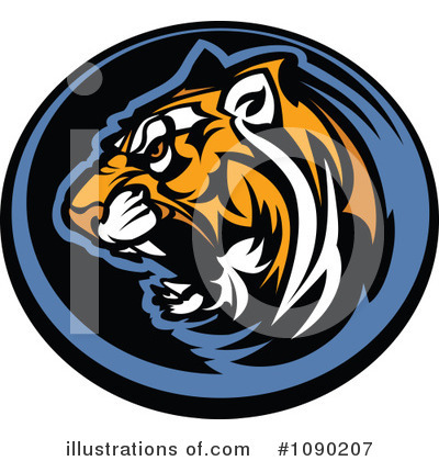 Tiger Clipart #1090207 by Chromaco