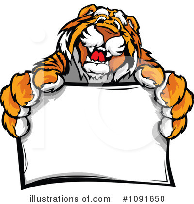 Tiger Clipart #1091650 by Chromaco