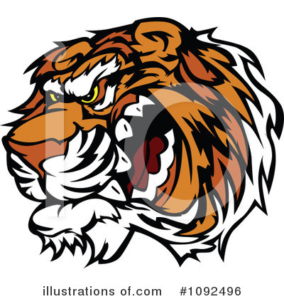 Tiger Clipart #1092496 by Chromaco