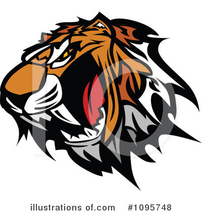 Tiger Clipart #1095748 by Chromaco