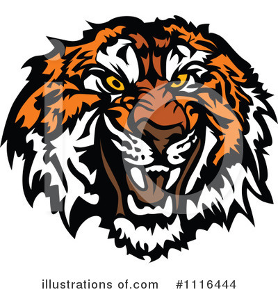 Tiger Clipart #1116444 by Chromaco