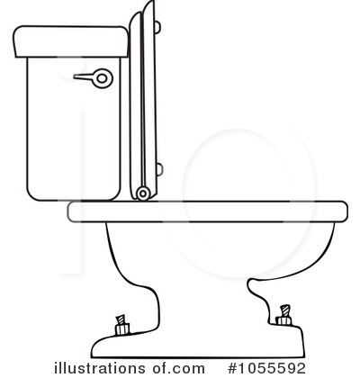 Toilet Clipart #1055592 - Illustration by Dennis Cox