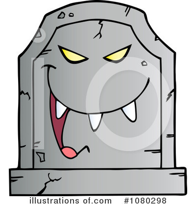 Tombstone Clipart #1080298 - Illustration by Hit Toon