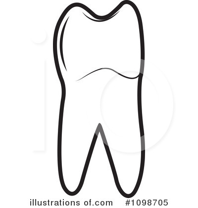 Tooth Clipart #1098705 - Illustration by Lal Perera