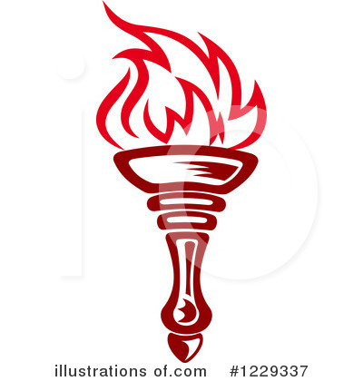 Royalty Free RF Torch Clipart Illustration By Vector Tradition SM