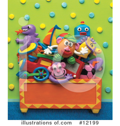 Royalty-Free (RF) Toys Clipart Illustration by Amy Vangsgard - Stock Sample #12199