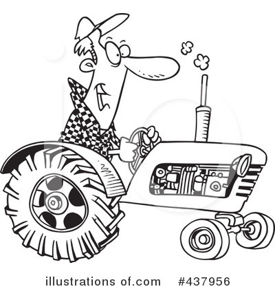 Tractor Clipart 437956 Illustration By Toonaday